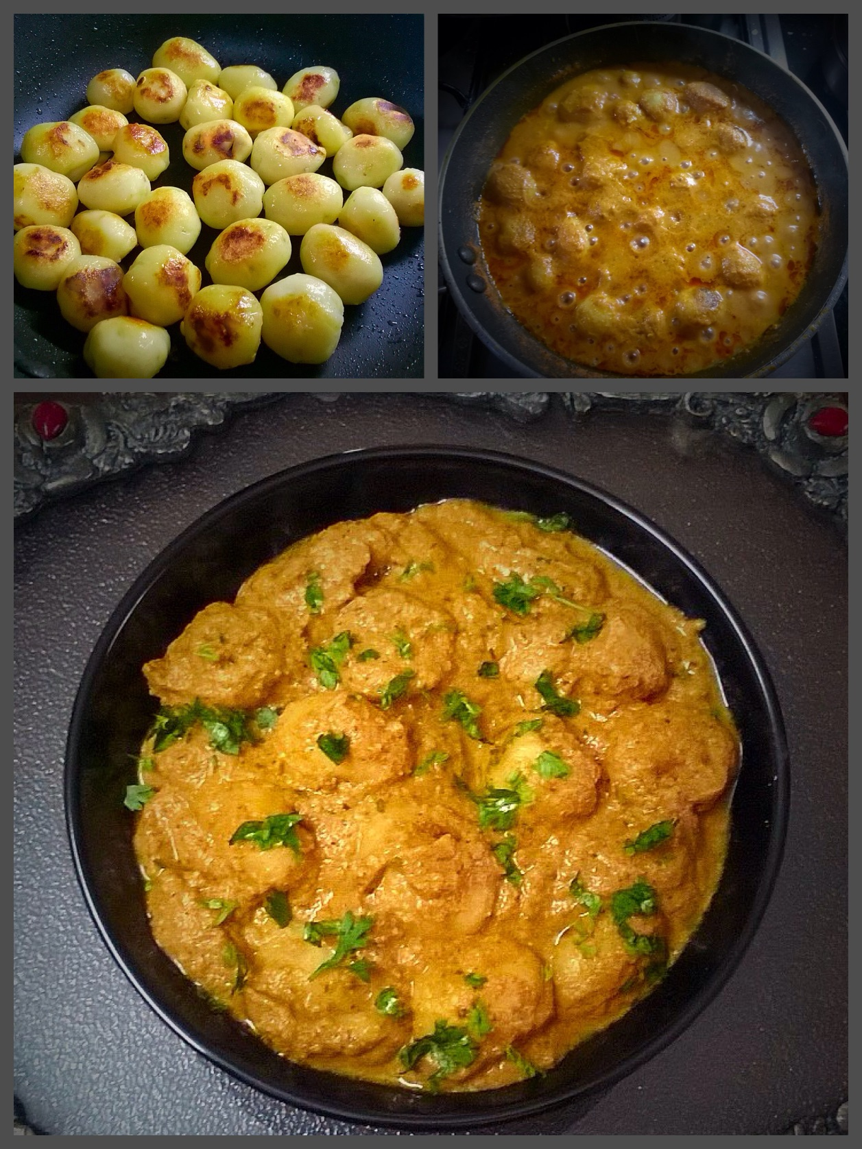 Dum aloo spicy baby potatoes without onion and garlic recipe dum aloo spicy baby potatoes without onion and garlic recipe forumfinder Choice Image