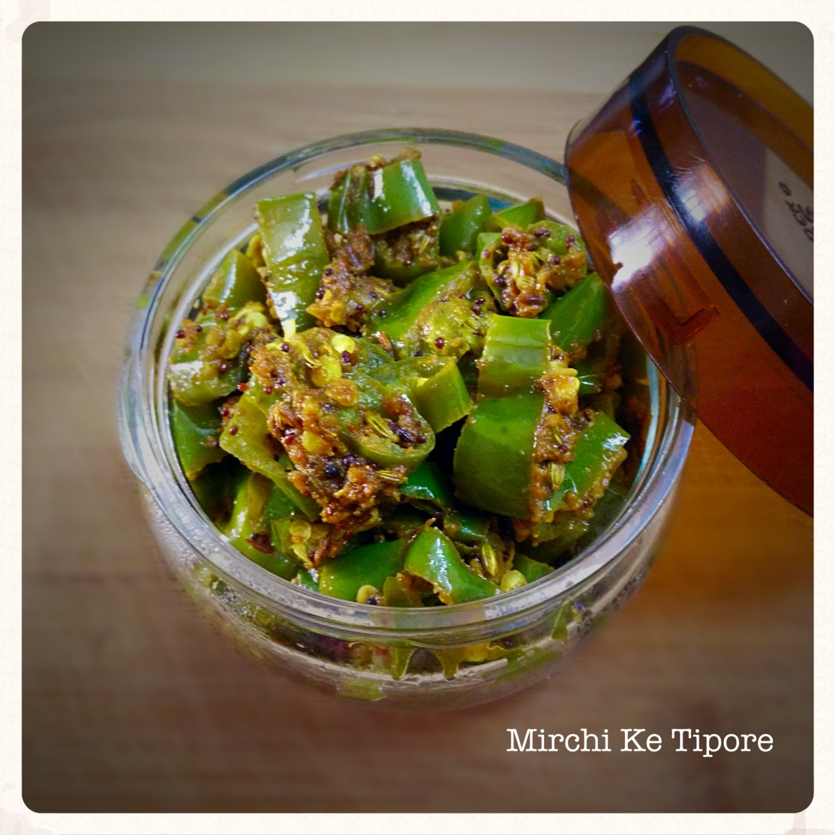 Mirchi ke Tipore/Instant Chilli Pickle Recipe