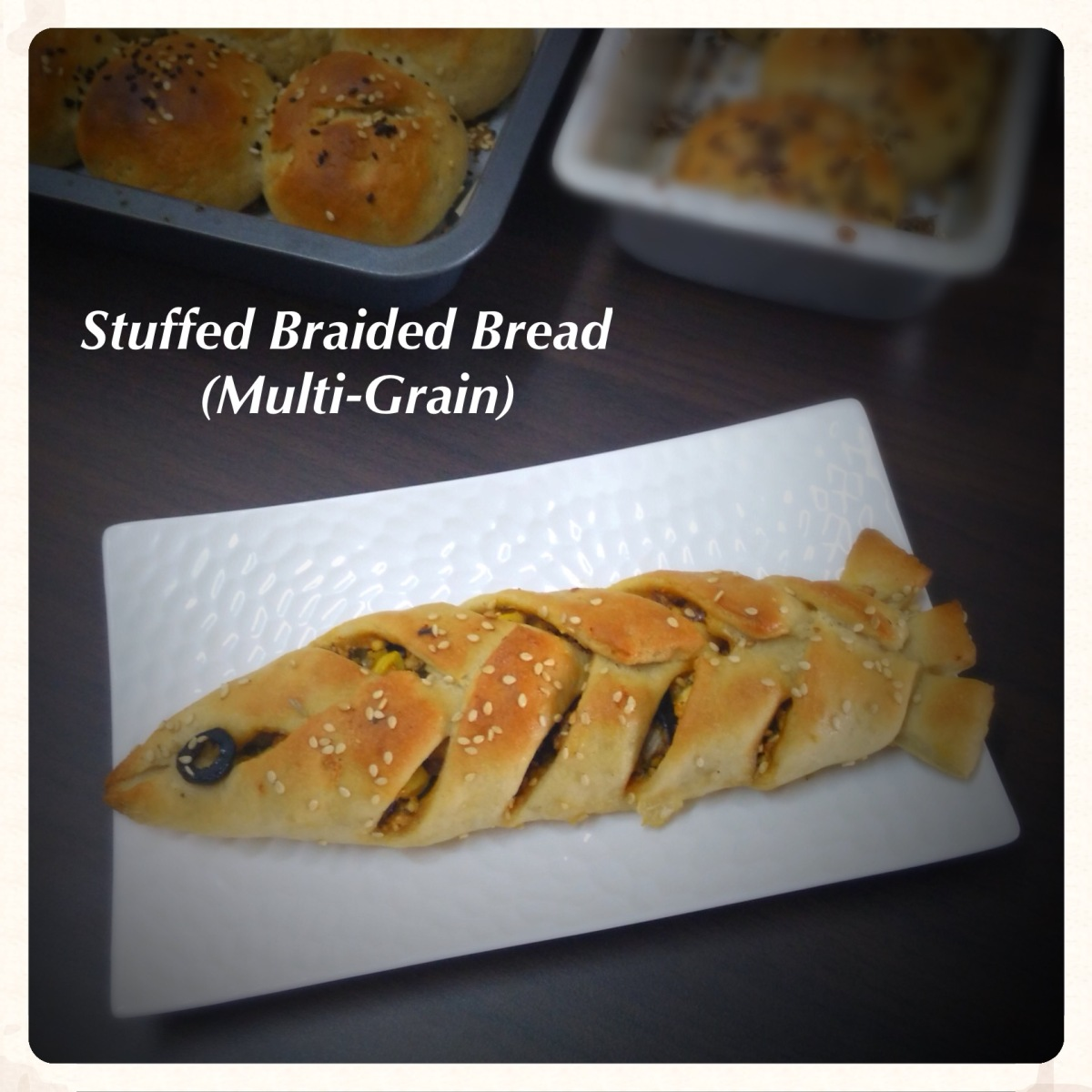 Stuffed Braided Bread (Multi-Grain) Recipe