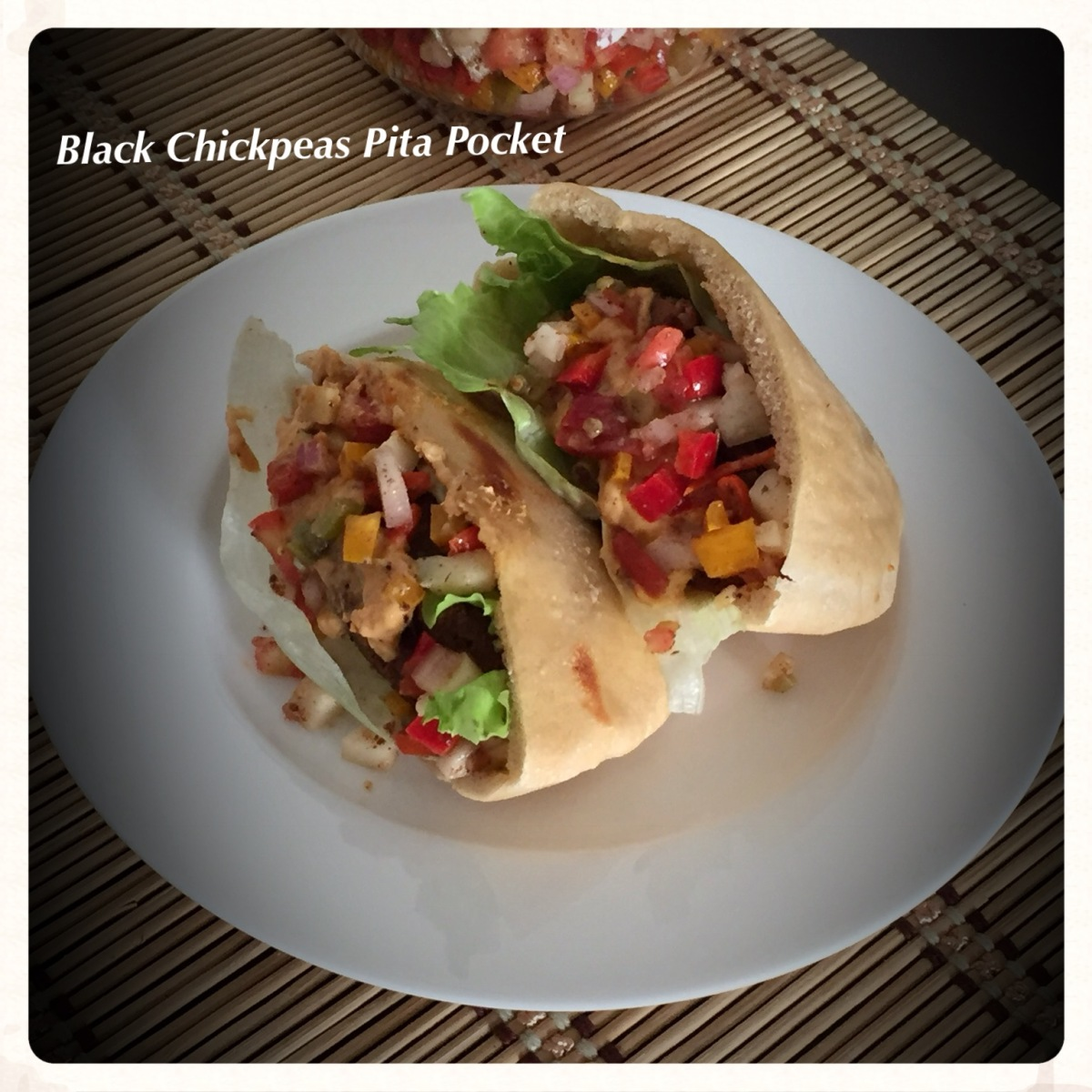 Black Chickpeas Pita Pocket Recipe