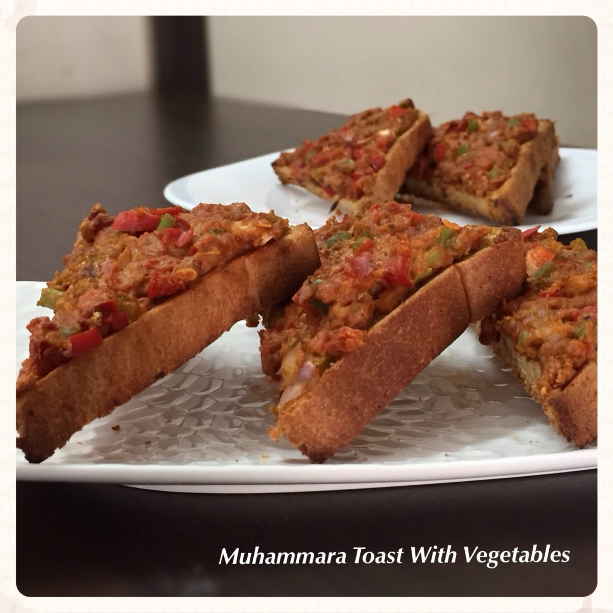 Muhammara Toast With Vegetables Recipe
