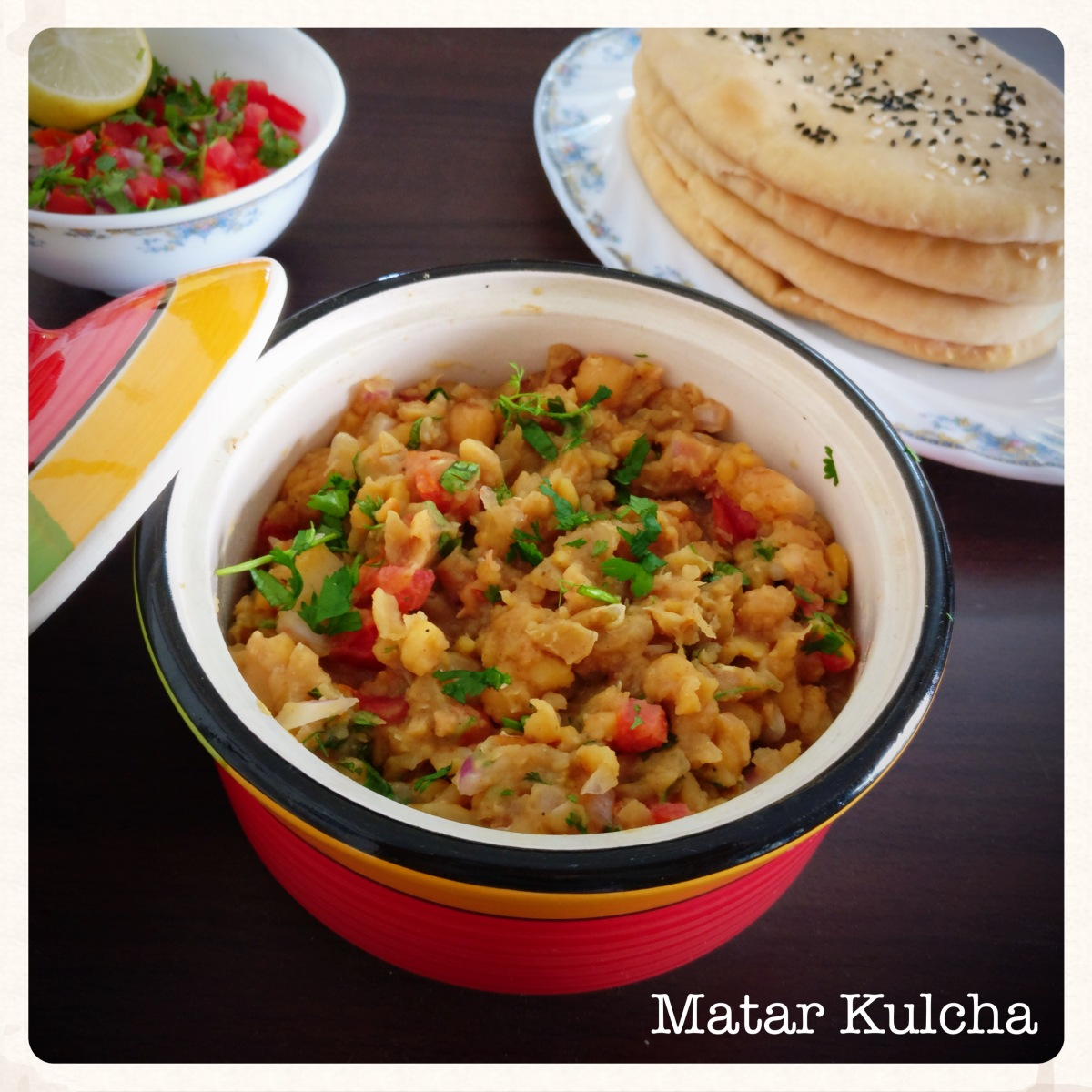 Matar Kulcha (Multigrain) Recipe