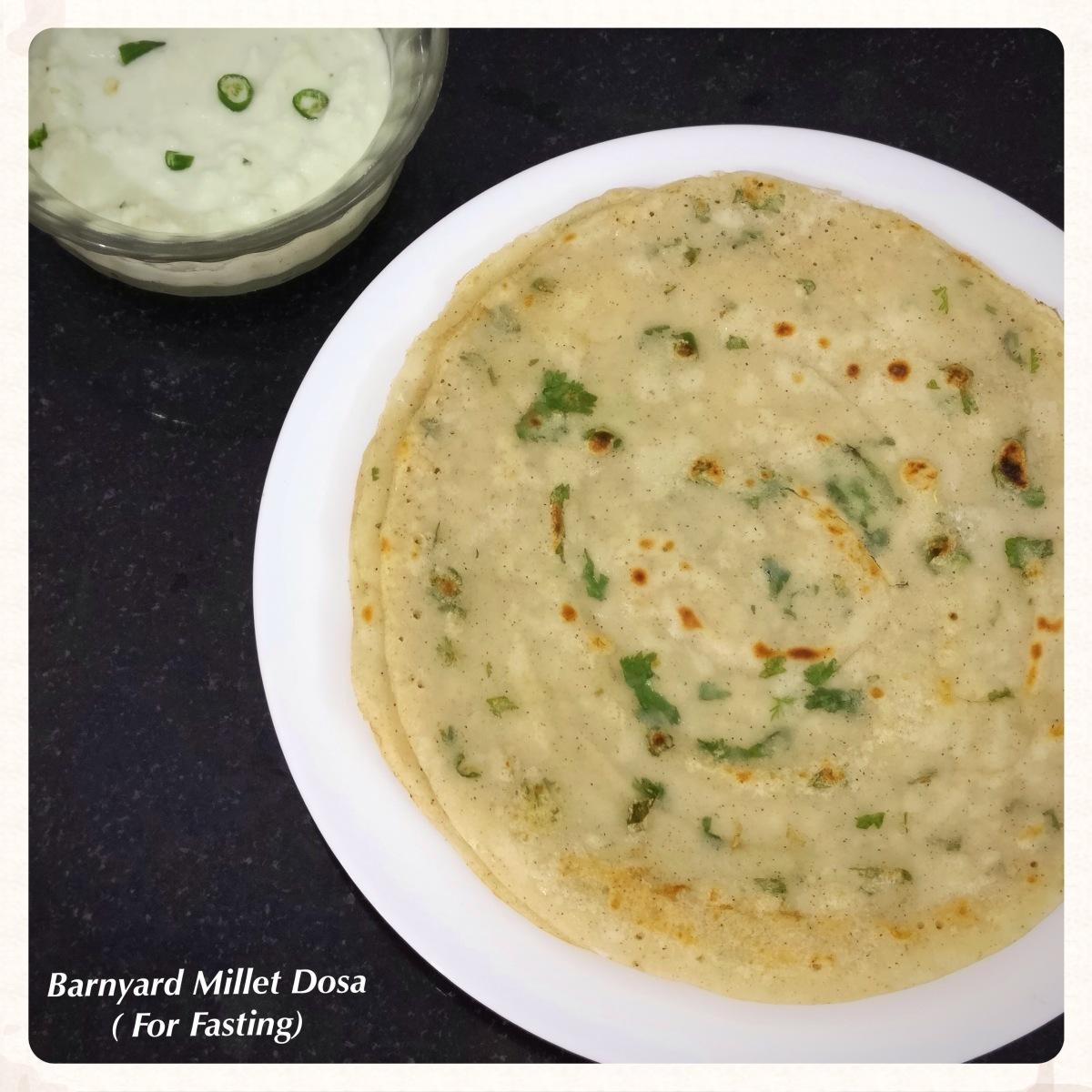 Barnyard Millet Dosa Recipe